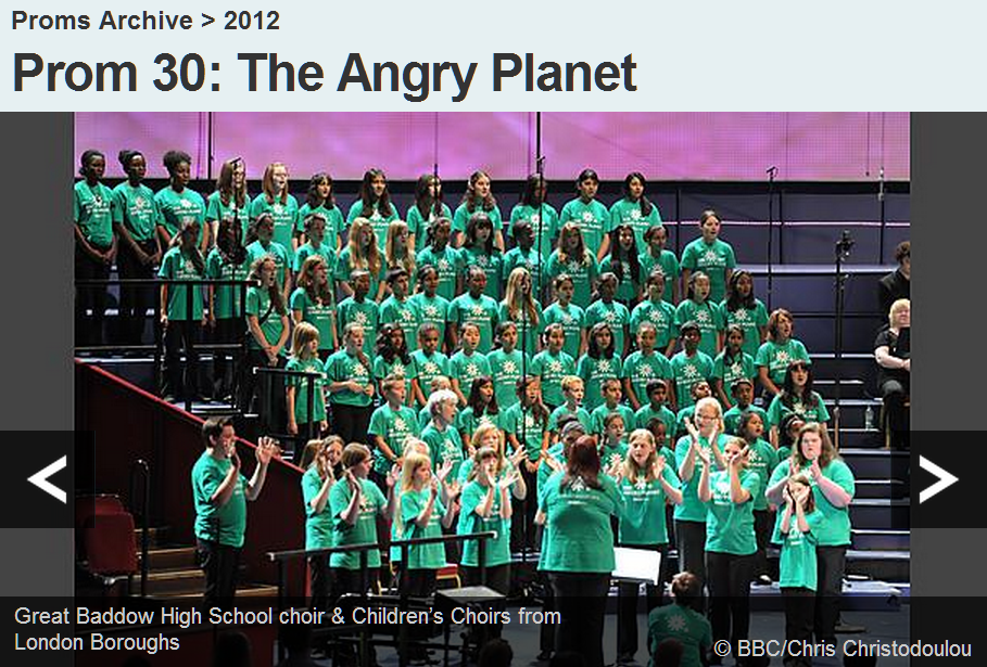 Great Baddow High School choir and Childrens Choirs from London Boroughs