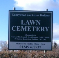 Galleywood and Great Baddow Law Cemetary