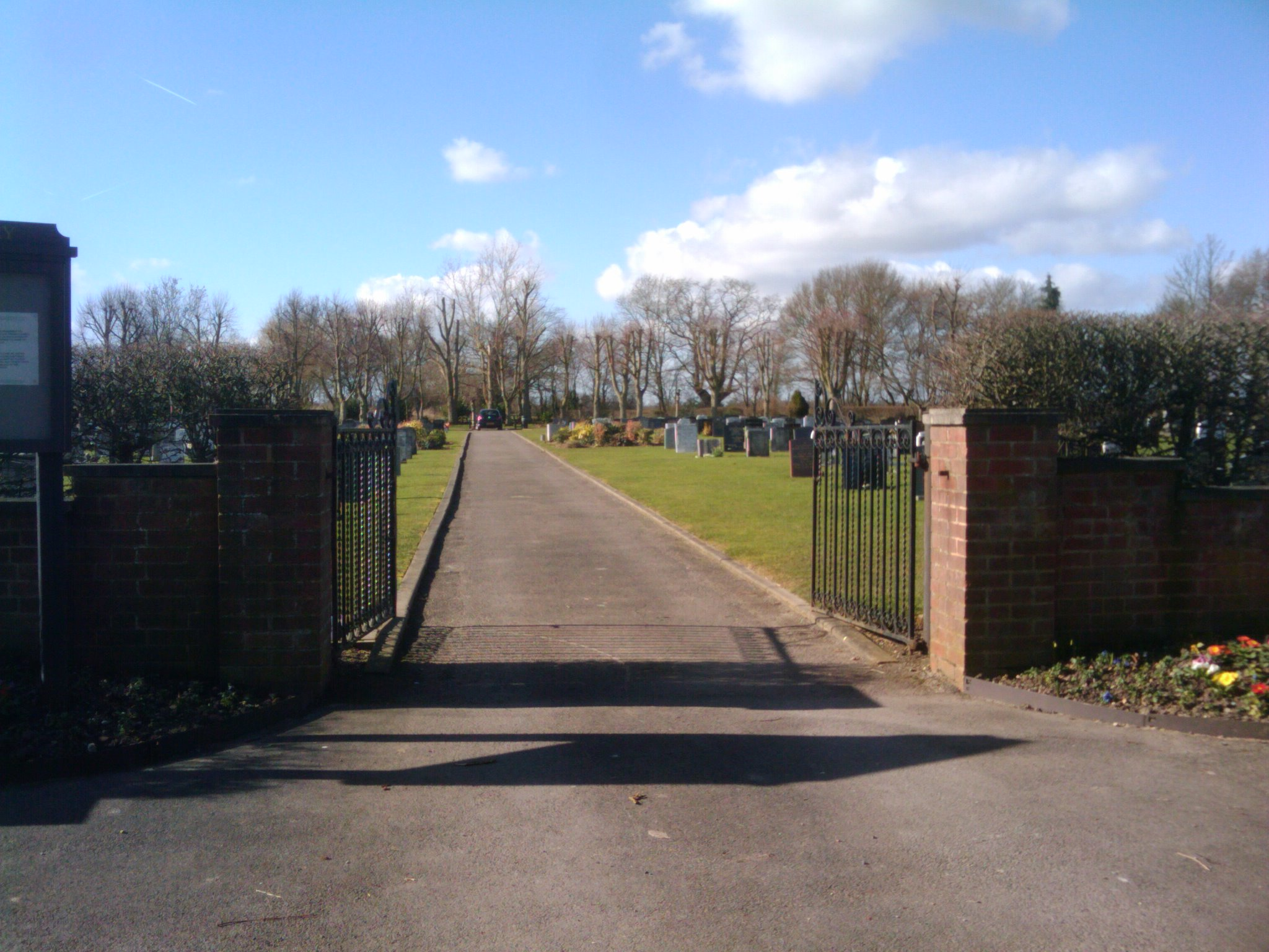 Gated entrance to the cemetary