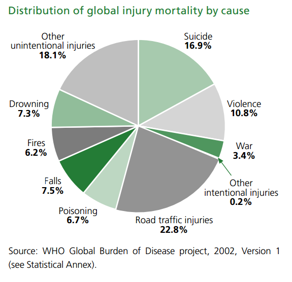 Falls - WHO Global Burden of Disease project