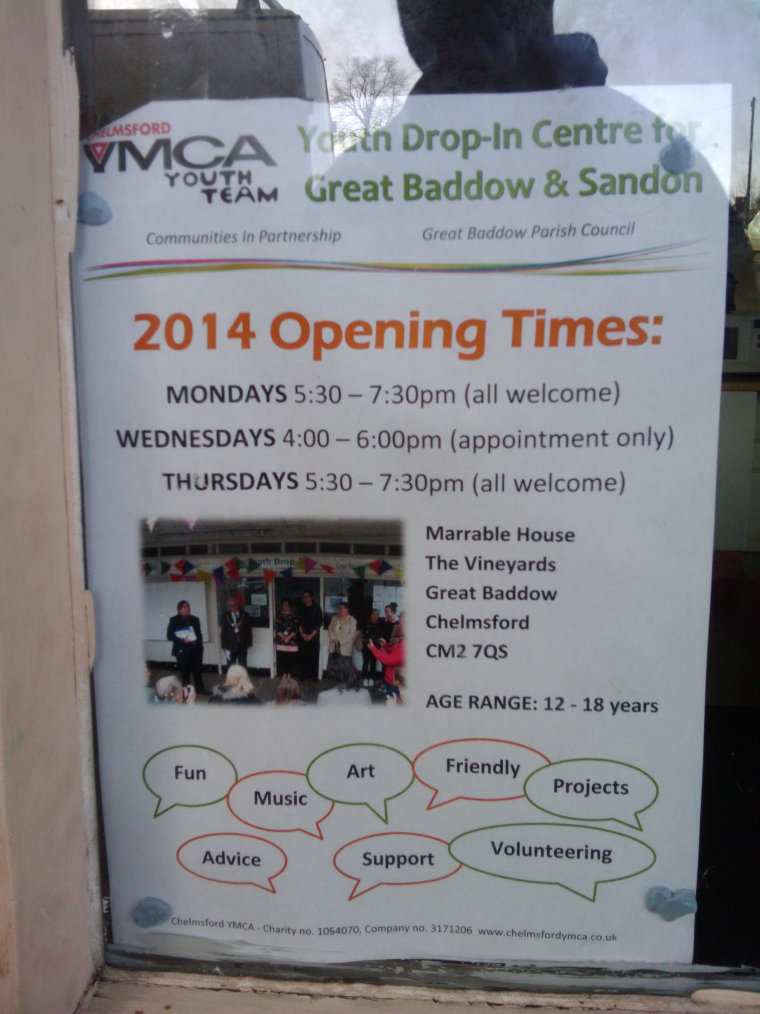 The Youth Drop-In opening times and information