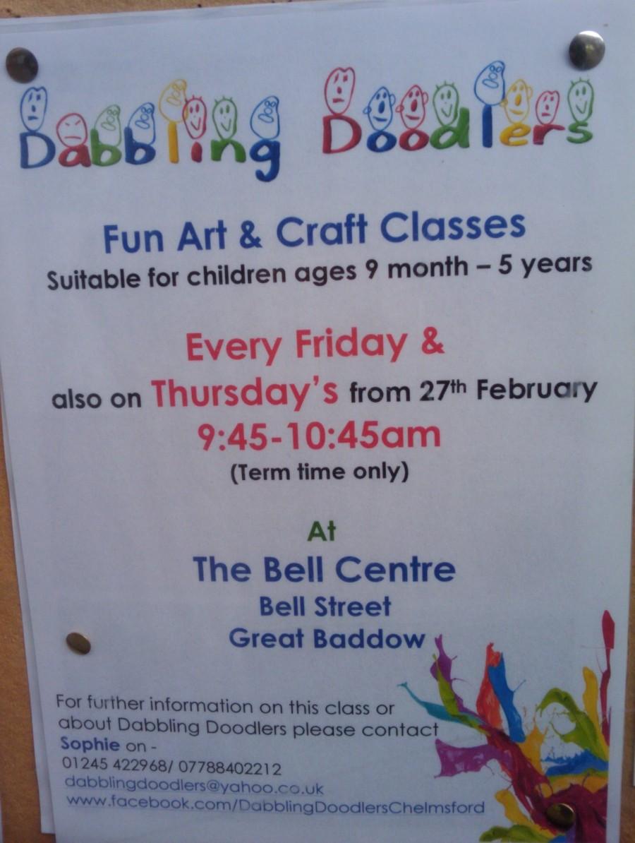 Dabbling Doodlers art class in Baddow