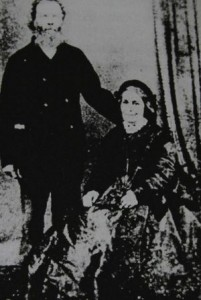 A photograph of Edgar and Maria Aldridge taken in the 1800s.