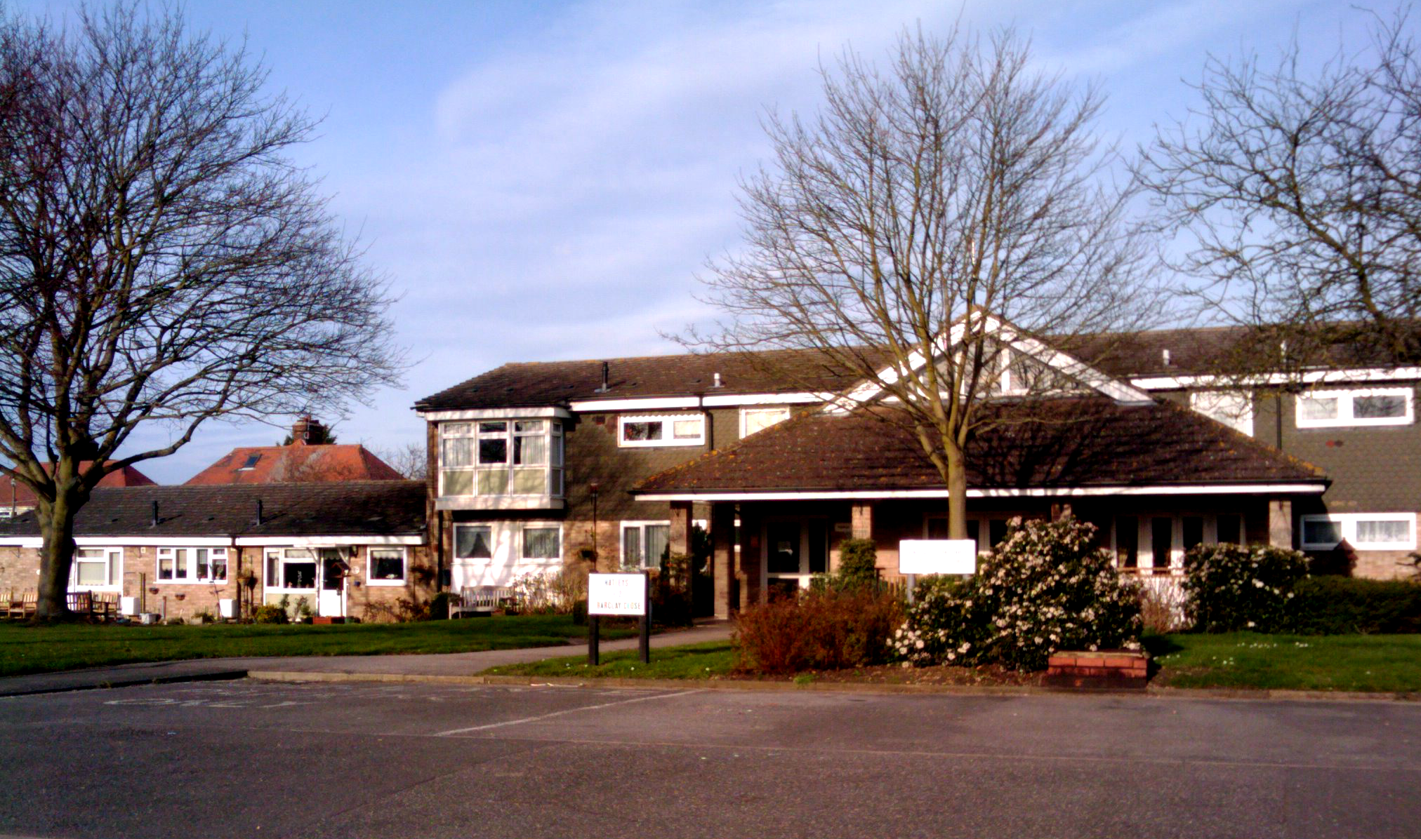 Hatleys on Barclays Close. Note the bungalows to the left with small ...