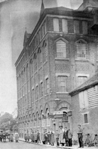 Old photo of The Baddow Brewery.