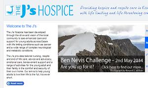 The Js Hospice webpage
