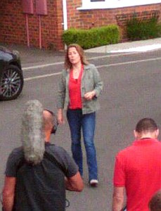 Sarah Beeny on Isaac Square in Great Baddow close up