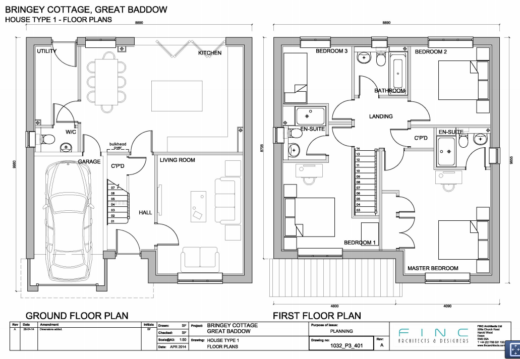 house type 1 floor plan