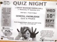 Kids Inspire Baddow Quiz