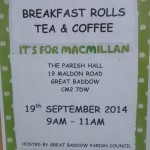 MacMillan charity morning - poster