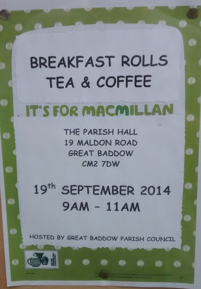 MacMillan charity morning - poster