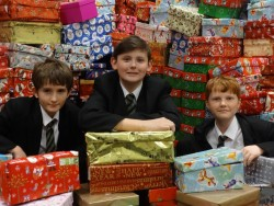 Operation Christmas Child Great Baddow boys