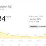 Great Baddow 34 degrees