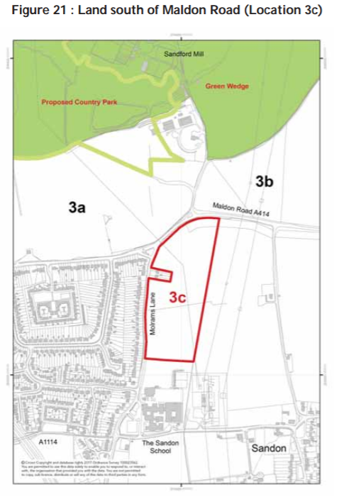 Land south of Maldon Road Location 3c